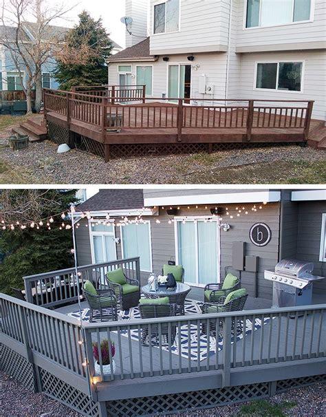 gray deck ideas  pinterest painted