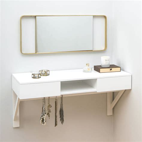 ideas for bathroom vanity floating dressing table with drawers and jewellery rail by