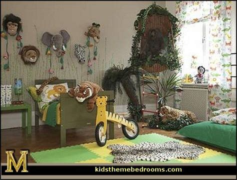 Animal Wallpaper For Bedrooms - jungle rainforest theme bedroom decorating ideas and
