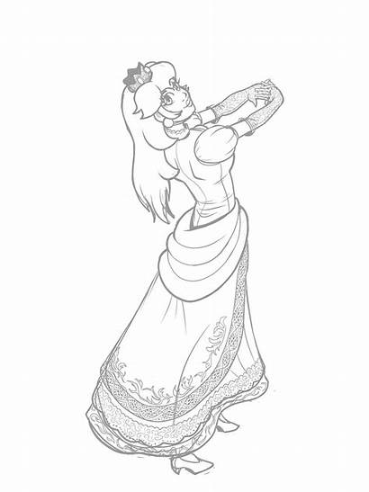 Peach Princess Fan Drawings Process Steemit Creative