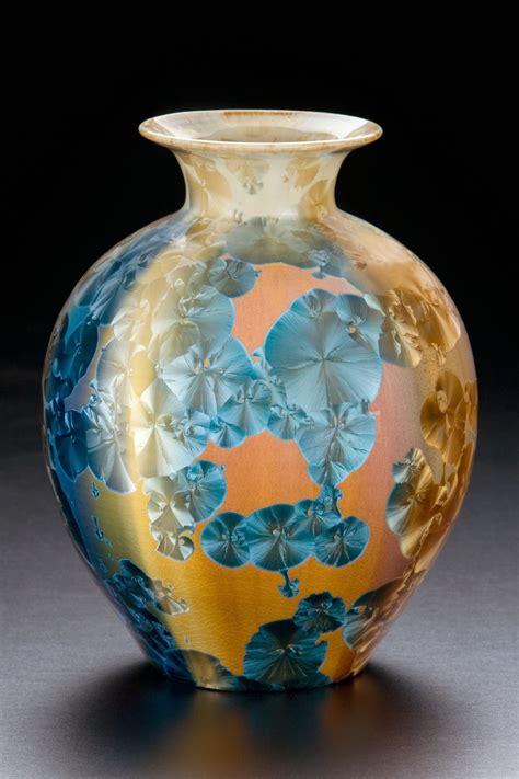 crystalline glassclay pottery handmade pottery