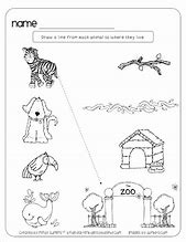 HD wallpapers animals and their homes worksheets for kindergarten ...