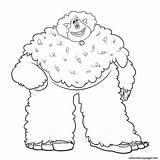Yeti Coloring Smallfoot Pages Printable Leuk sketch template