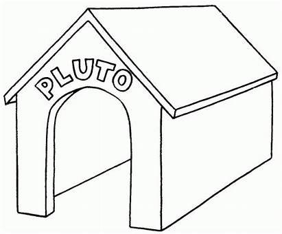 Dog Coloring Pluto Kennel Colorare Printable Cuccia