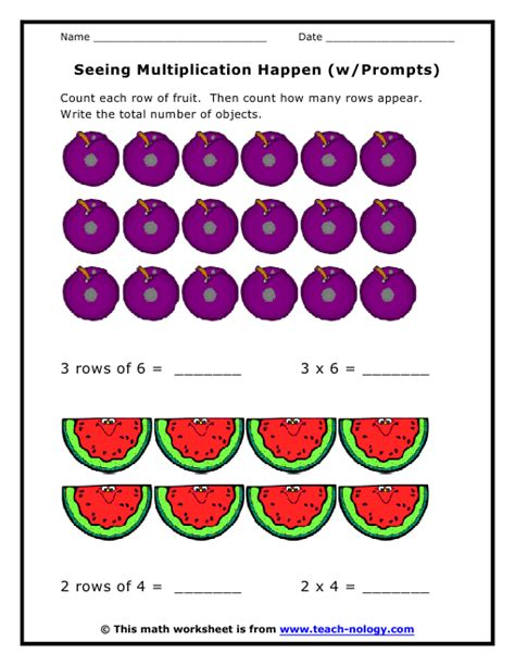Visual Math Multiplication Worksheets  Large Print Math Worksheetsmath Worksheets