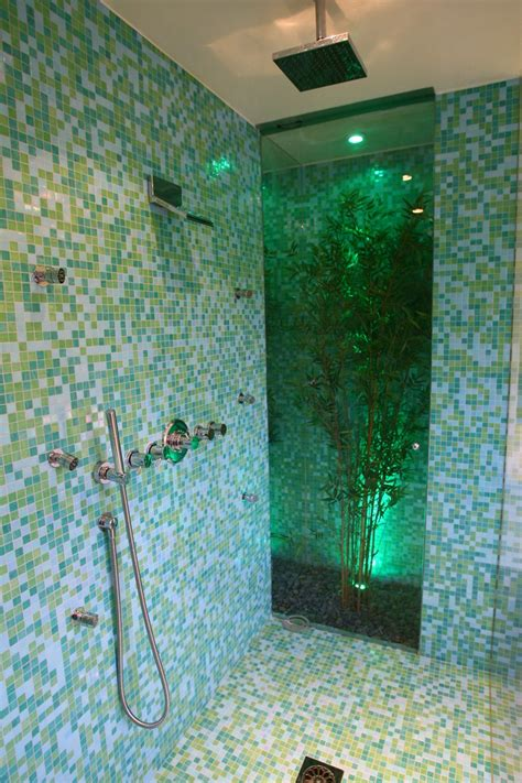 great bathroom glass tile   pictures