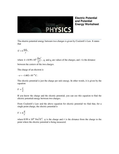 charge  electricity worksheet answers