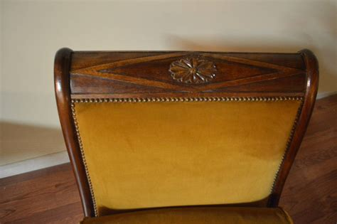 chaise empire empire style mahogany chaise with carved swan motif
