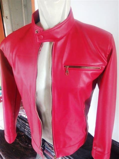 jual jaket pria semi kulit sintetis asli garut jaket boy