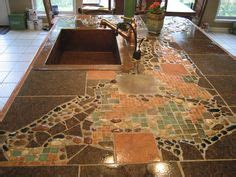 mosaic tile kitchen countertop 1000 images about countertop ideas on diy 7866