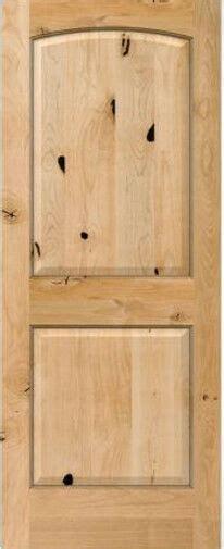 panel arch top knotty alder raised solid core interior