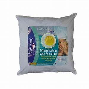 Oreiller Memoire De Forme Conforama : oreiller carr ergonomique m moire de forme 65x65 cm ~ Melissatoandfro.com Idées de Décoration