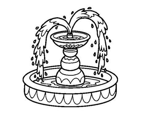 water fountain coloring page  getcoloringscom  printable colorings pages  print  color