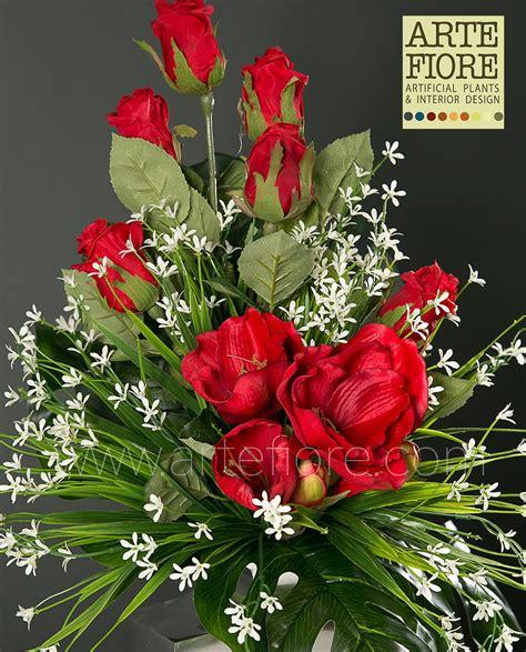 fiori per cimitero fiori per cimitero fiori artificiali rosanna rosso per