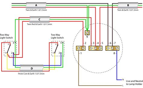 Way Lighting Circuit Ceiling Rose Wiring Diagrams