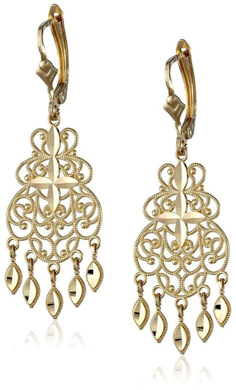14k Gold Chandelier Earrings by 14k Yellow Gold Chandelier Earrings Visuall Co