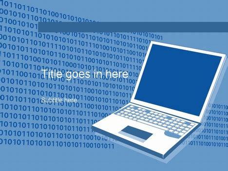 computer blue template