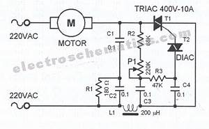 triac circuit page 4 other circuits nextgr With motor control wiring diagrams in addition triac dimmer circuit diagram