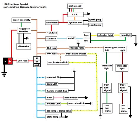 xs650 custom wiring diagram powerking co