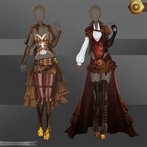 [Closed]Adoptable Outfit (Steampunk 1-2) by Anneysa on DeviantArt | Clothing Designs and ...