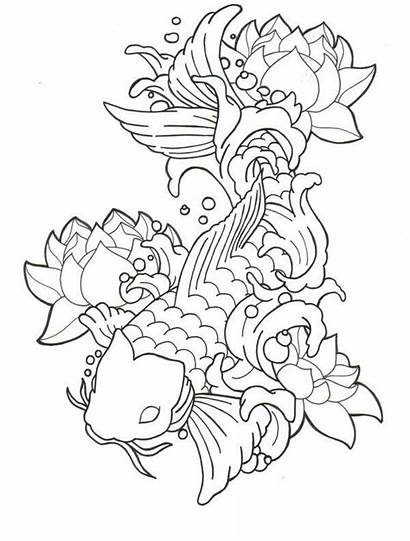 Coloring Pages Japanese Flower Javier Guerra Tattoo