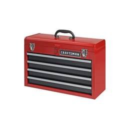craftsman 4 drawer portable metal box steel mechanic tool chest toolbox 35424 ebay