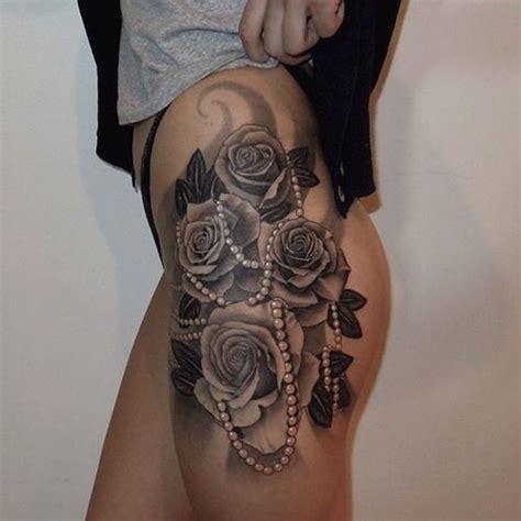 tattoos  thighs ideas  pinterest flower