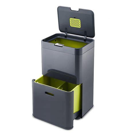 poubelle de cuisine tri selectif joseph joseph totem 48 poubelle à tri sélectif