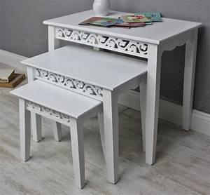 Beistelltisch Antik Weiß : 3x tisch beistelltisch wei landhaus elbm bel landhausm bel ~ Sanjose-hotels-ca.com Haus und Dekorationen
