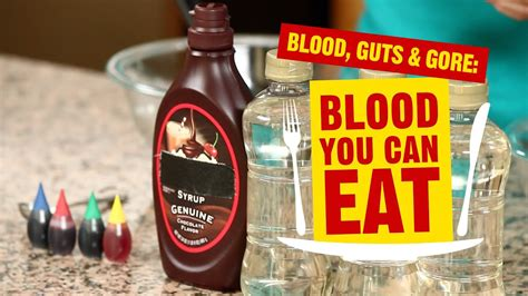 blood guts  gore edible blood youtube