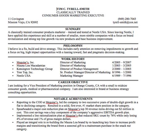 resume exle 47 professional summary exles