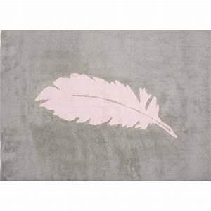 Tapis Gris Rose : tapis forme plume au design romantique aratextil ~ Teatrodelosmanantiales.com Idées de Décoration