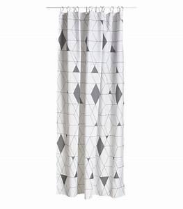 Rideau Gris Et Blanc : rideaux de douche ~ Teatrodelosmanantiales.com Idées de Décoration