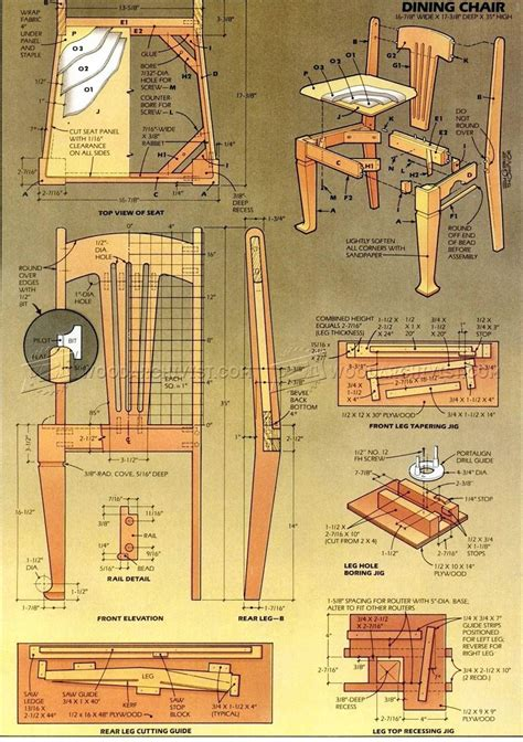dining chair plans woodarchivist