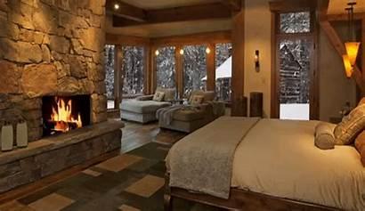 Fireplace Winter Snow Fire Gifs Sounds Crackling