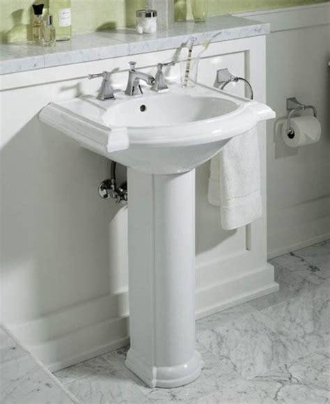 bathrooms with pedestal sinks interior decorating