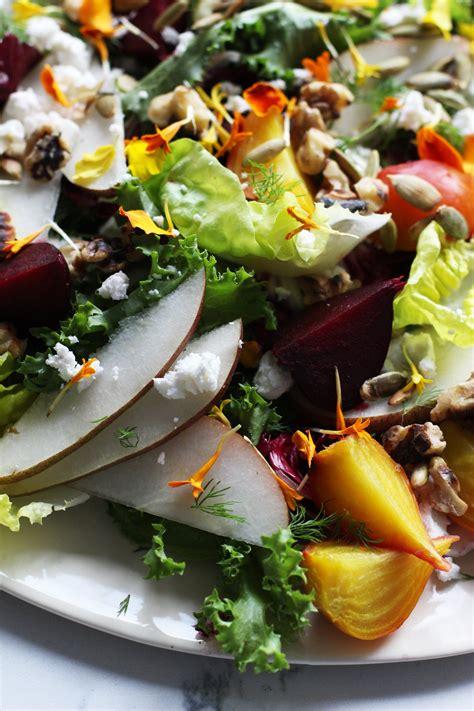 Roasted Beet And Pear Salad Honestlyyum