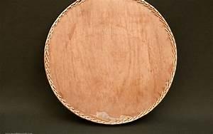 Plateau Bois Rond : plateau rond bois et osier vintage r ve de brocante ~ Teatrodelosmanantiales.com Idées de Décoration
