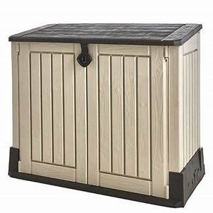 Cache Poubelle Brico Depot : coffre de jardin woodland 840l beige marron castorama ~ Dailycaller-alerts.com Idées de Décoration