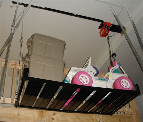 Electric Ceiling Mount Bike Lift by Electric Hoist Garage Neiltortorella