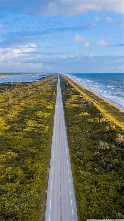 Road Aerial Beach Jacksonville Florida Wallpapers Coastline