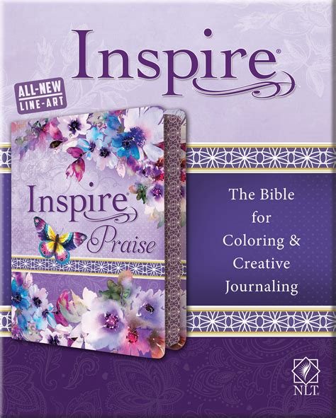 tyndale inspire praise bible nlt  bible  coloring