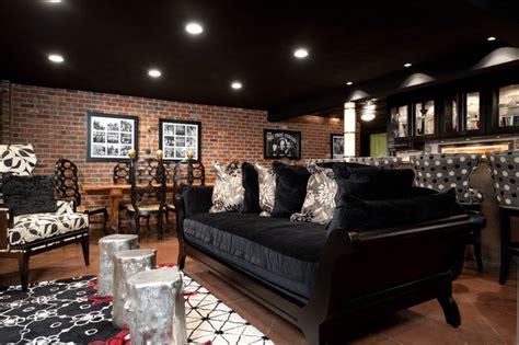 favorite spaces  contemporary basement st louis