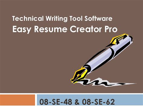 Technical Resume Creator by Technical Repot Wriitng