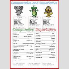 Comparative And Superlative  Interactive Worksheet