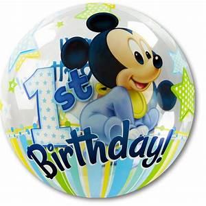 Mickey Mouse Geburtstag : partydeko 1 geburtstag ballon ~ Orissabook.com Haus und Dekorationen