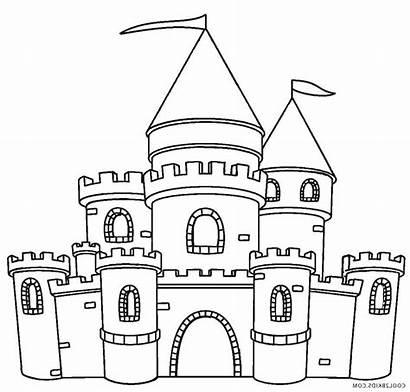 Clipart Castle Printable Coloring Transparent Webstockreview Bottle