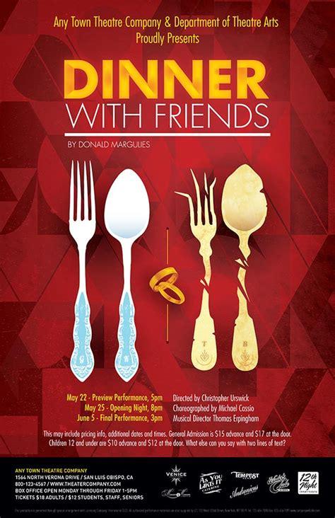 dinner  friends poster design subplot studio