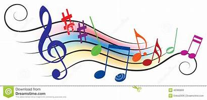 Musical Notes Colorful Clipart Melody Dreamstime