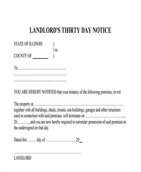 sle letter to landlord moving out landlord eviction notice template 28 images free